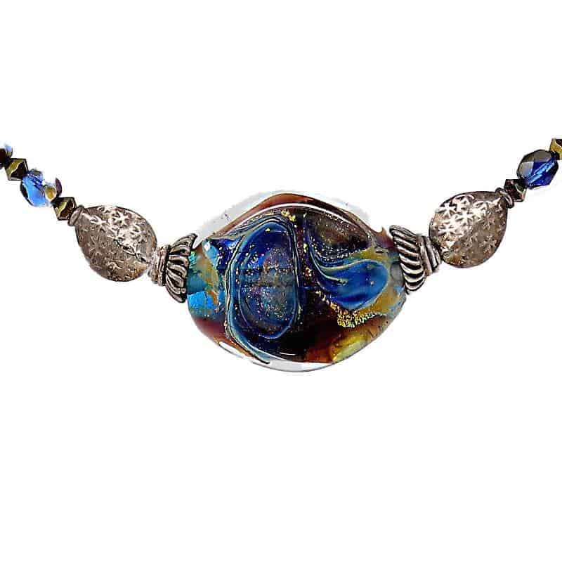 Blue Daydream Sterling Silver Necklace