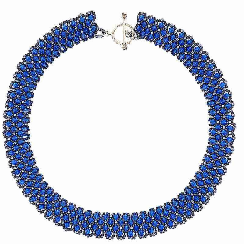 Collier en cristal Swarovski bleu saphir - bleu éblouissant