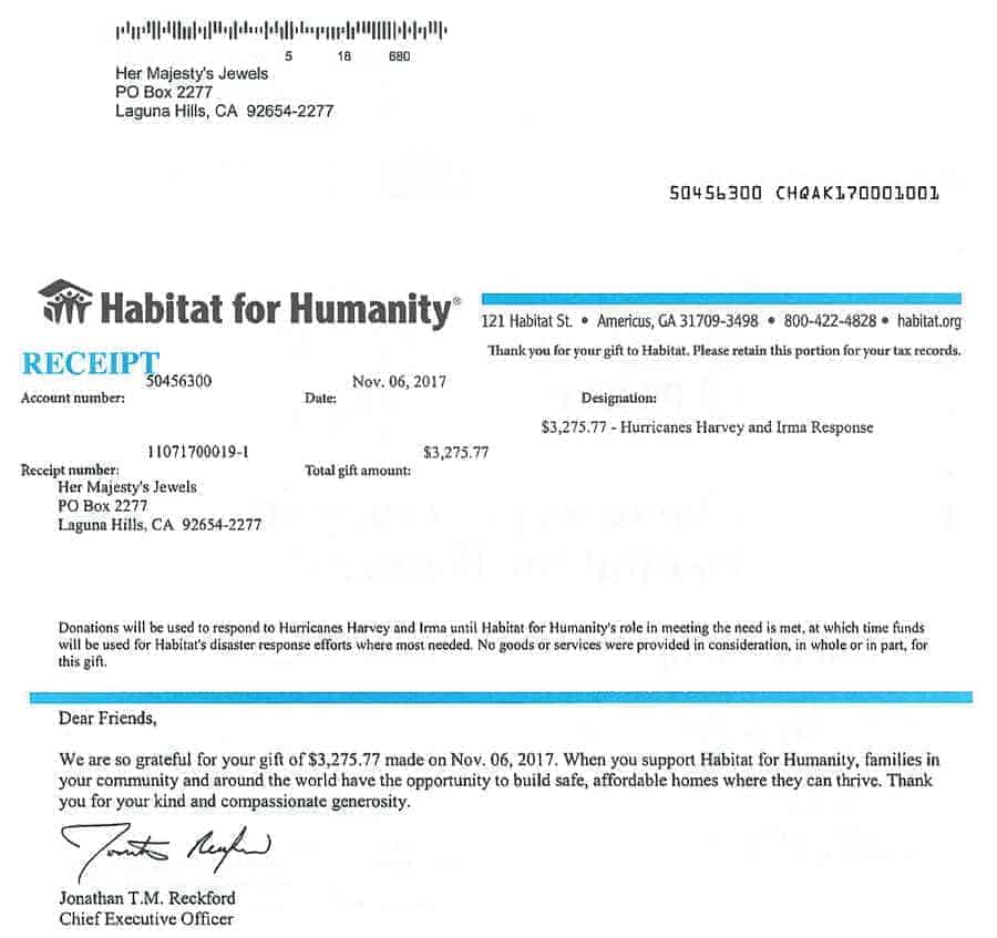 We did it - Habitat for Humanity October