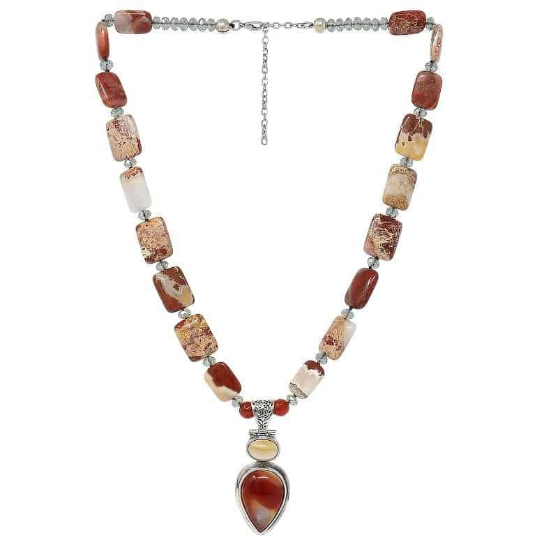 Botswana Red Jasper Necklace 1