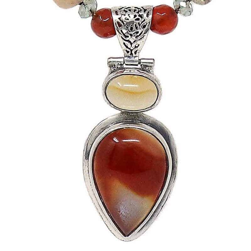 Botswana Red Jasper Necklace-Pendant