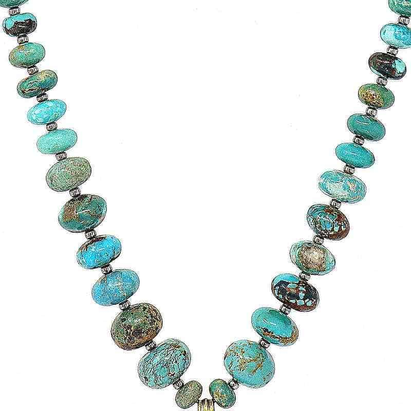 Turquoise Stone Necklace - detail