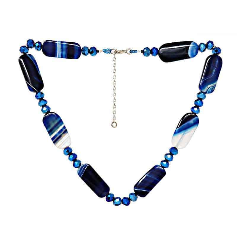 Blue Agate Crystal Necklace