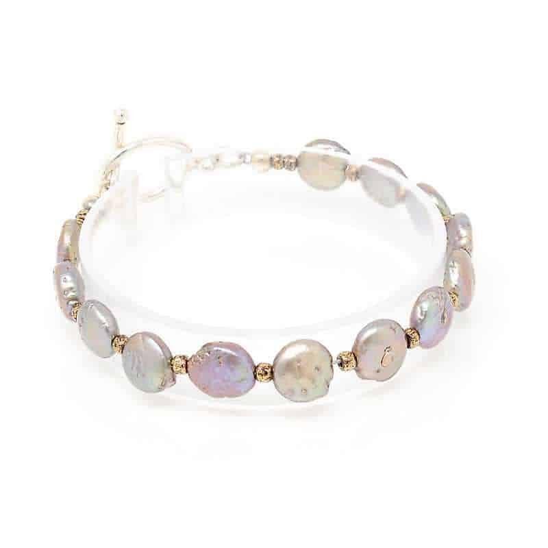 Treasure Coin Pearl Bracelet - right