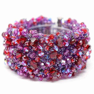 Swarovski red splash crystal bracelet