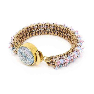 Two-Strand Crystal Bracelet with Swarovski Clasp