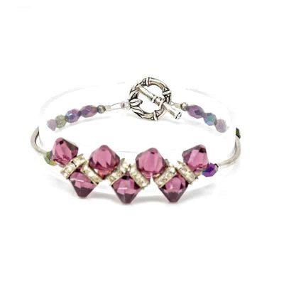 Amethyst Swarovski Crystal Bracelet