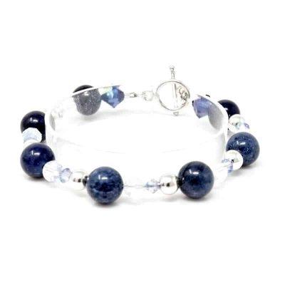 Galaxy Dumortierite Sterling Silver Bracelet