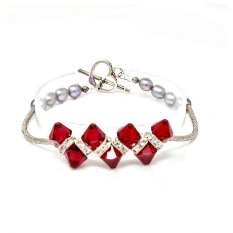 Venus Crystal Pearl Bracelet - Center