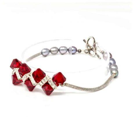 Venus Crystal Pearl Bracelet - Left