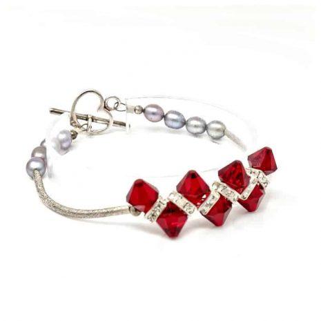 Venus Crystal Pearl Bracelet