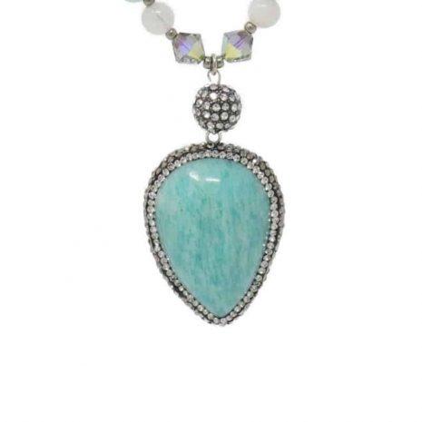 Amazonite Moonstone Necklace - Pendant