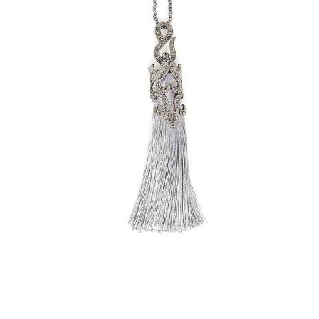 Angel Frost Tassel Necklace