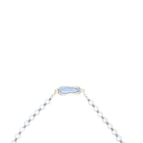 Sterling Silver Pearl Necklace - Clasp
