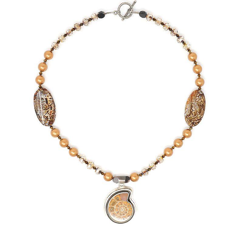 Bronze Beauty Ammonite Necklace