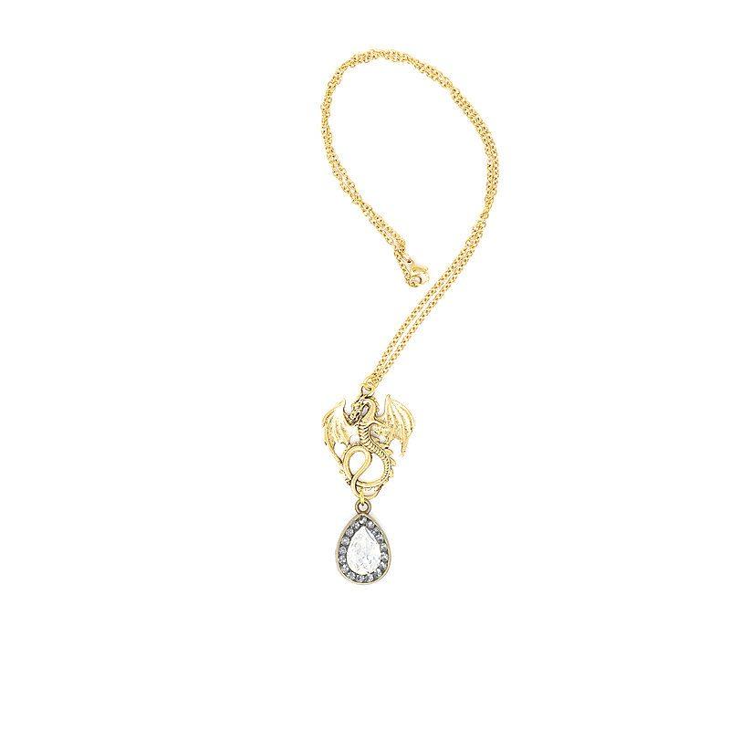 Dragon Crest Pendant Necklace