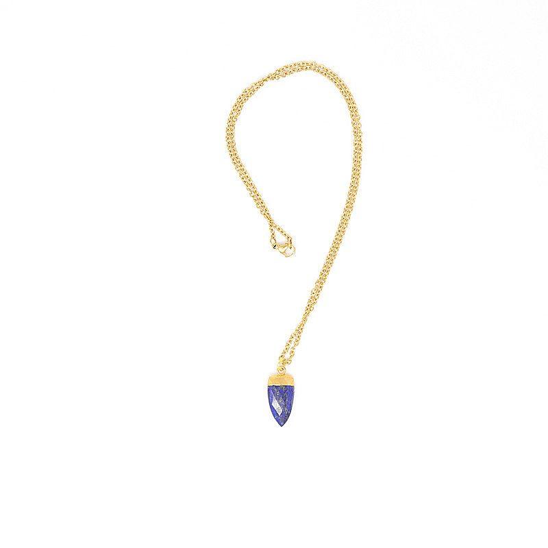Lapis Dew Drop Pendant Necklace