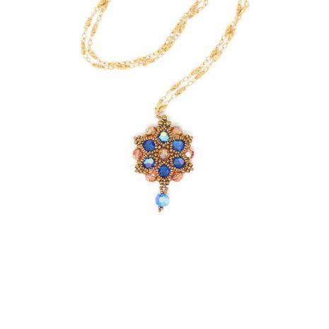 Melbourne Blue Swarovski Crystal Necklace
