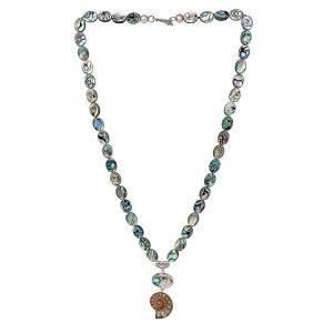 Abalone Ammonite Necklace