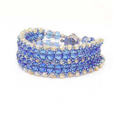 Hope Blue Crystal Bracelet
