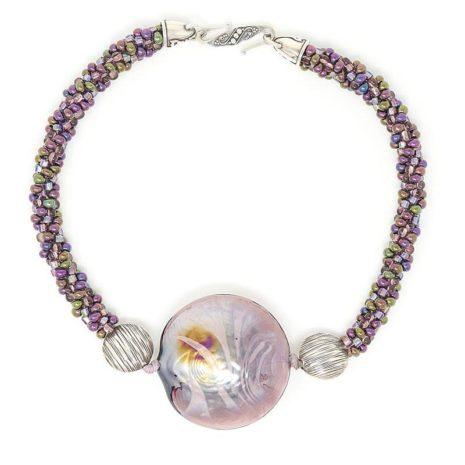 Murano Purple Bubble Necklace