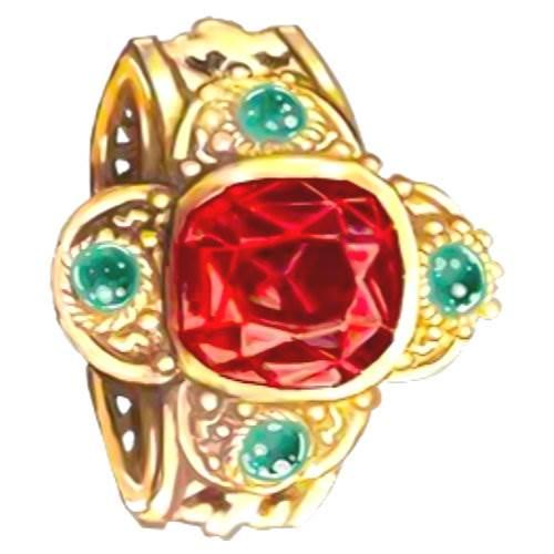 September Birthstone Sapphire Cardinal Ring