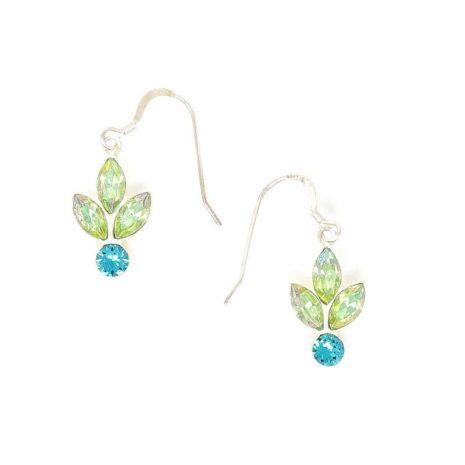 Peridot Silver Reflections Swarovski Crystal Earrings - HerMJ