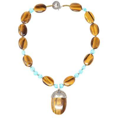 Sterling Silver Tiger Eye Necklace