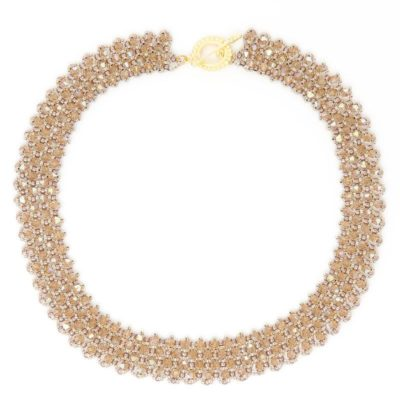 Swarovski Topaz Crystal Necklace