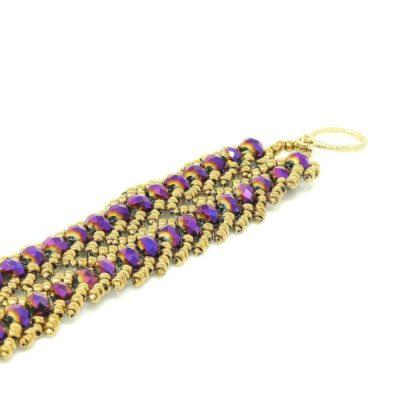 Ultraviolet Crystal Bracelet - open