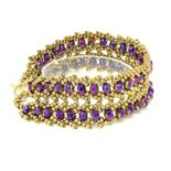 Ultraviolet Crystal Bracelet - right
