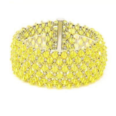 Citrine Swarovski Crystal Bracelet - Center