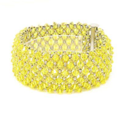 Citrine Swarovski Crystal Bracelet - Left