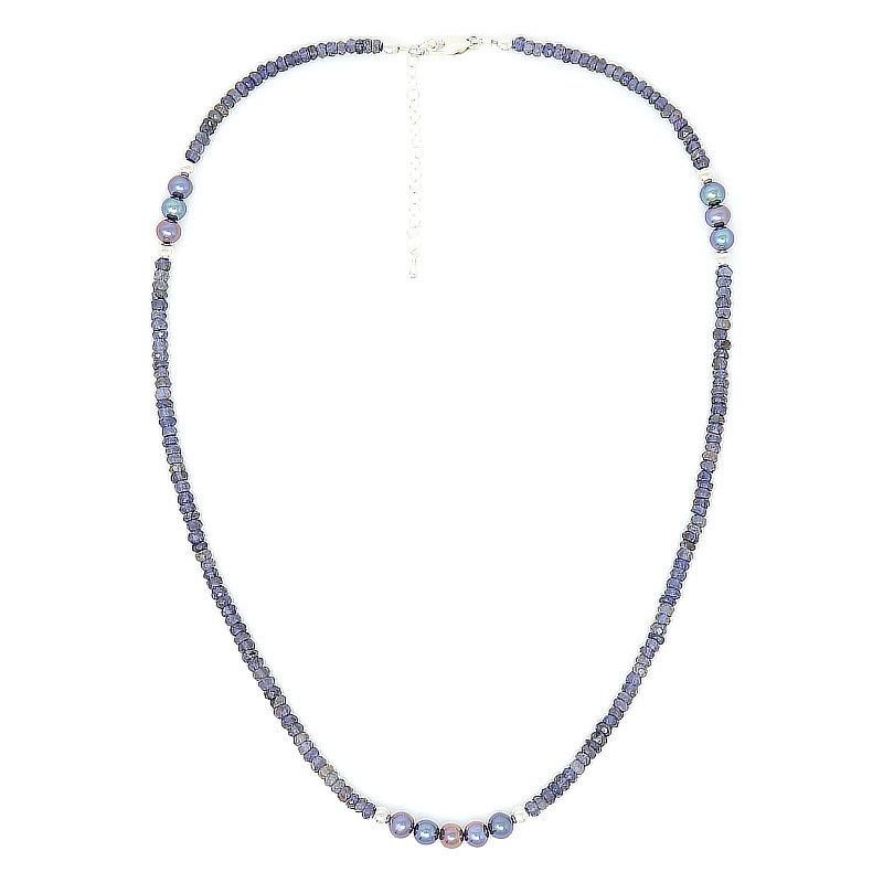 Blue Sapphire Freshwater Pearl Necklace