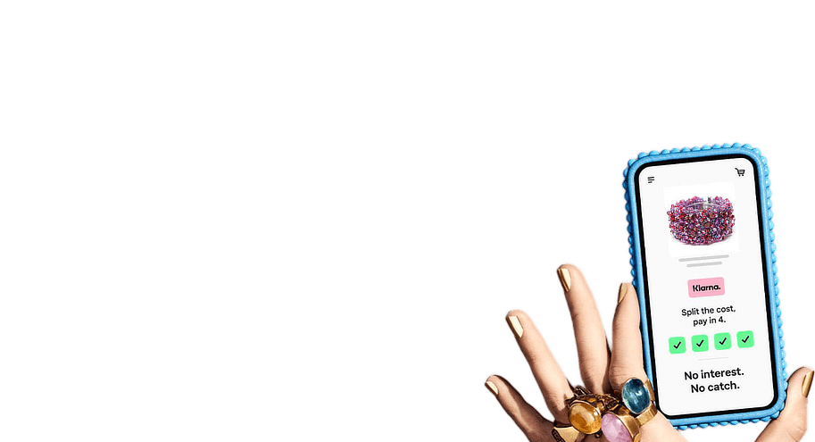 HerMJ Klarna Shop Announcment - Pay 4 HerMJ Mobile Hand